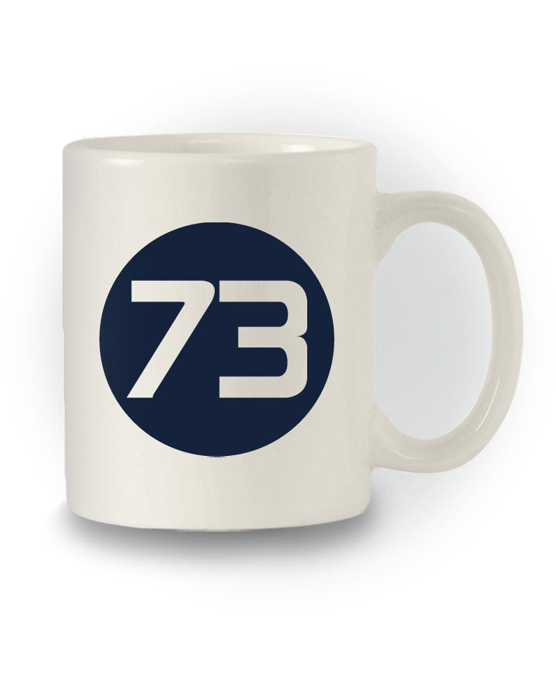 TBBT Inspired 'Number 73' Nerdy Sheldon Inspired Mug