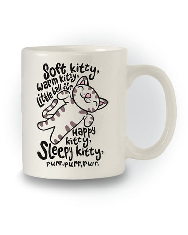 The Big Bang Theory Inspired 'Soft Kitty Happy Kitty' Mug
