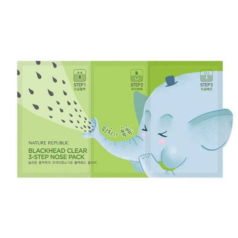 NATURE REPUBLIC Blackhead Clear 3-Step Nose Patch