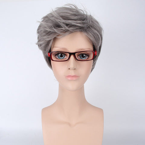 MapofBeauty Silver-gray Cosplay Short Hair Wig