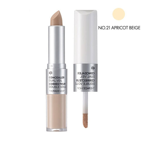THE FACE SHOP Concealer Dual Veil--NO.21 Apricot Beige