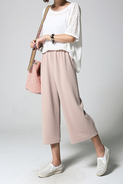Cozy Band-waist Office Lady Pants