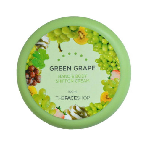 THE FACE SHOP Green Grape Hand & Body Shiffon Cream