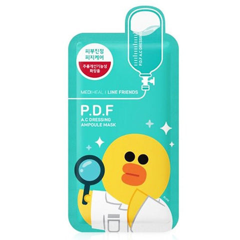 MEDIHEAL P.D.F AC Dressing Ampoule Mask--Line Friends Limited Edition