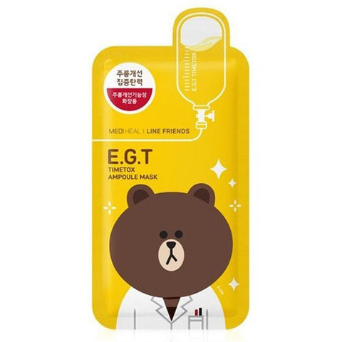 MEDIHEAL E.G.T Timetox Ampoule Mask--Line Friends Limited Edition