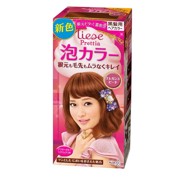 KAO Prettia Bubble Hair Color Elegant Peach