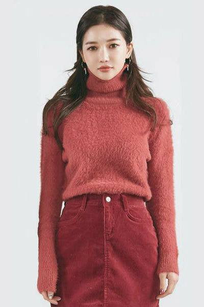 CHUU What's the Fuzz About Turtleneck Knit