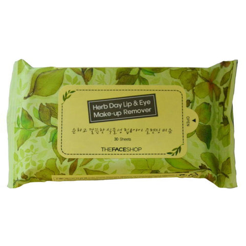THE FACE SHOP Herb Day Makeup Remover Tissue 70 Sheets