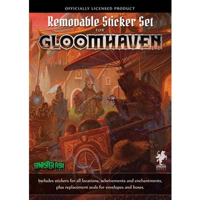 Gloomhaven Removable Stickers Set