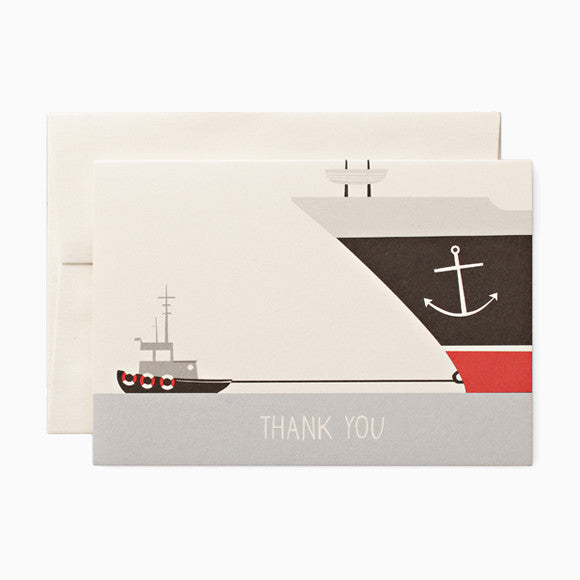 Klappkarte - Thank you boat