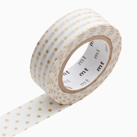 Masking Tape - mt dots s gold