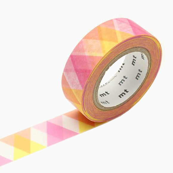 Masking Tape - mt triangle and diamond pink