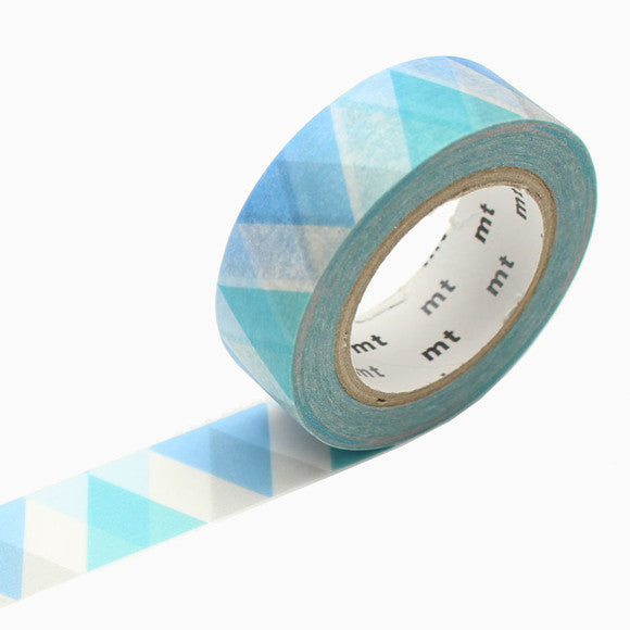 Masking Tape - mt triangle and diamond blue