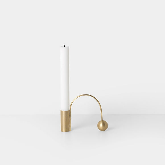 Kerzenständer - Balance Candle Holder brass