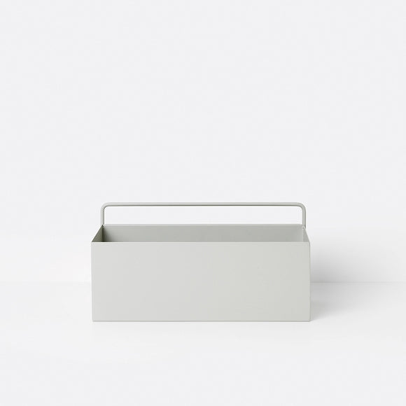 Aufbewahrungsbox - Wall Box rectangle light grey