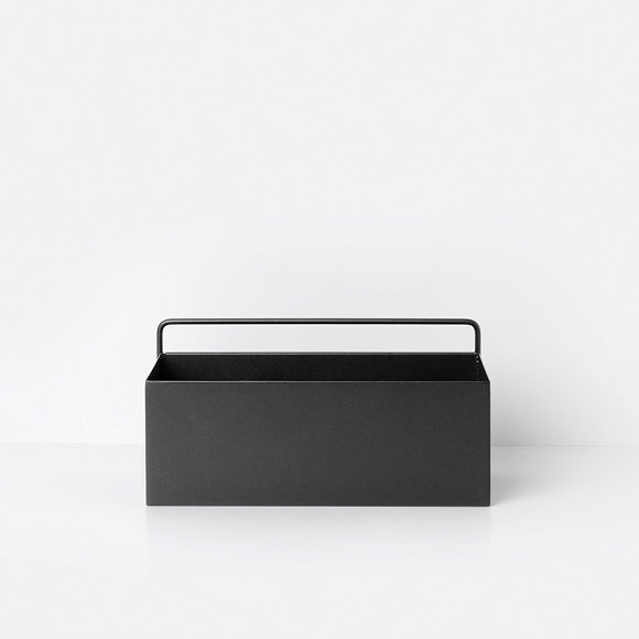 Aufbewahrungsbox - Wall Box rectangle black