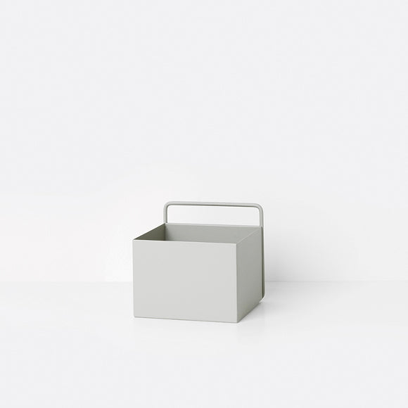 Aufbewahrungsbox - Wall Box square light grey