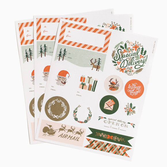 Aufkleber - Holiday Stickers and Labels
