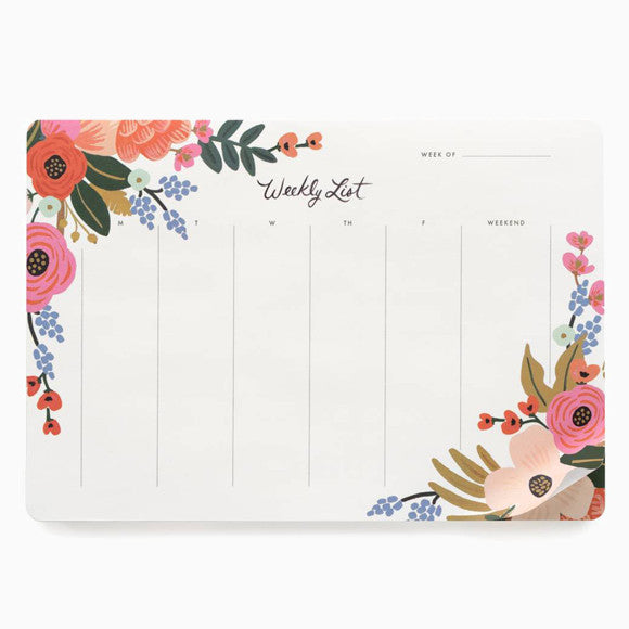 Wochenplaner - Weekly Desk Pad Lively Floral