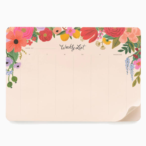 Wochenplaner - Weekly Desk Pad Garden Party