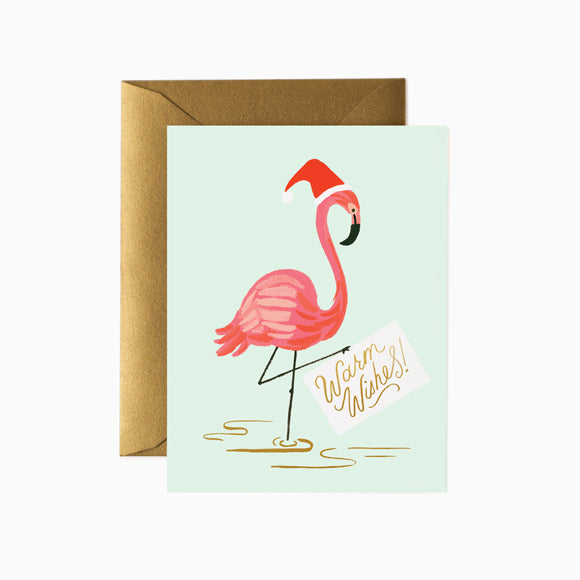 Klappkarte - Holiday Flamingo