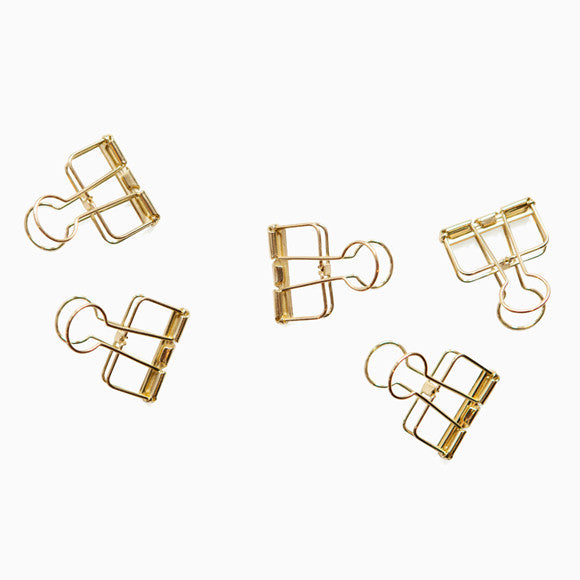 Klammer - Wire Clip 33mm gold