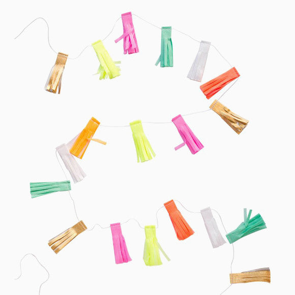 Mini Girlande - Neon Tassel