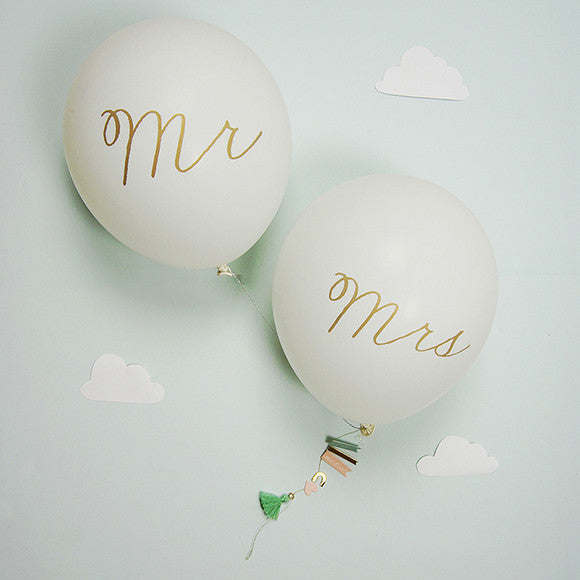 Grußkarte - Mr & Mrs Balloon