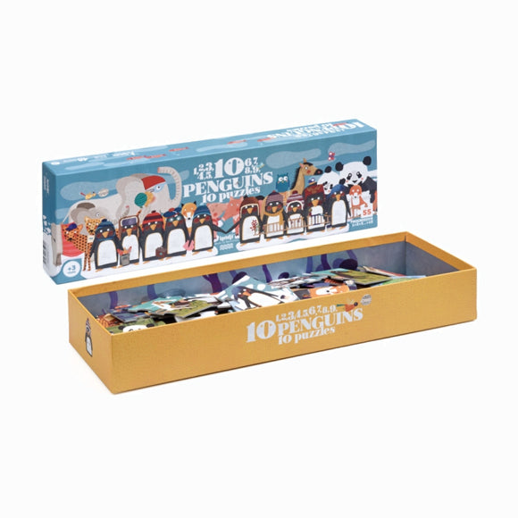 Puzzle - 10 Penguins