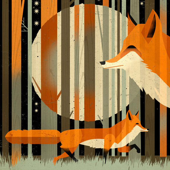 Poster - Fox in the night
