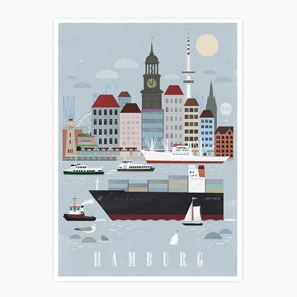Postkarte - Hamburg City