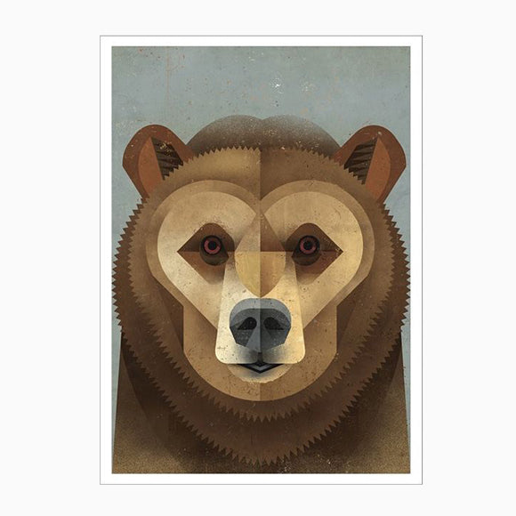 Postkarte - Kodiak Bear
