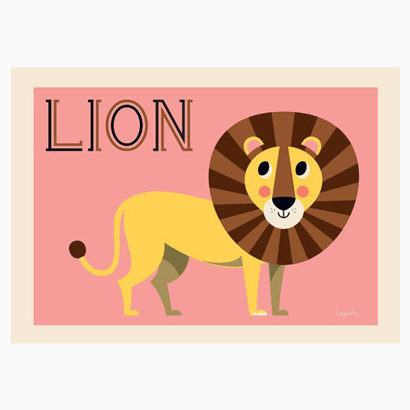 Poster - Friendly Lion