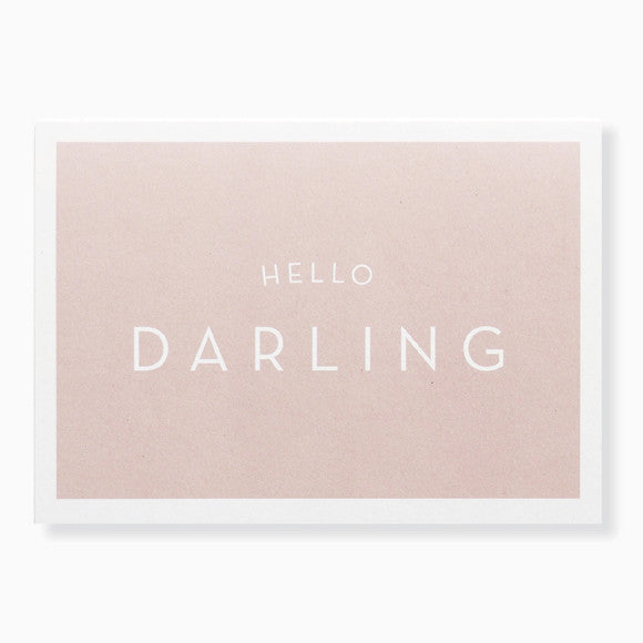 Karte - Hello Darling