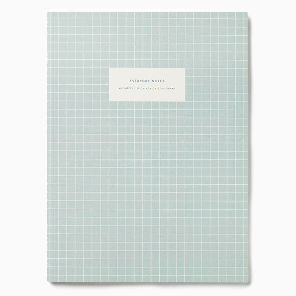 Notizbuch - Notebook Check blue