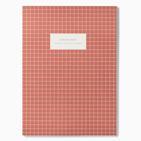 Notizbuch - Notebook Check brick red