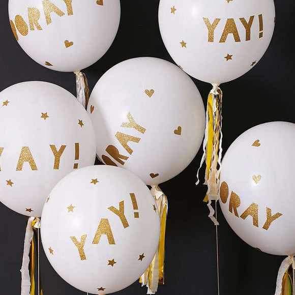 Ballon-Set - Glitter White