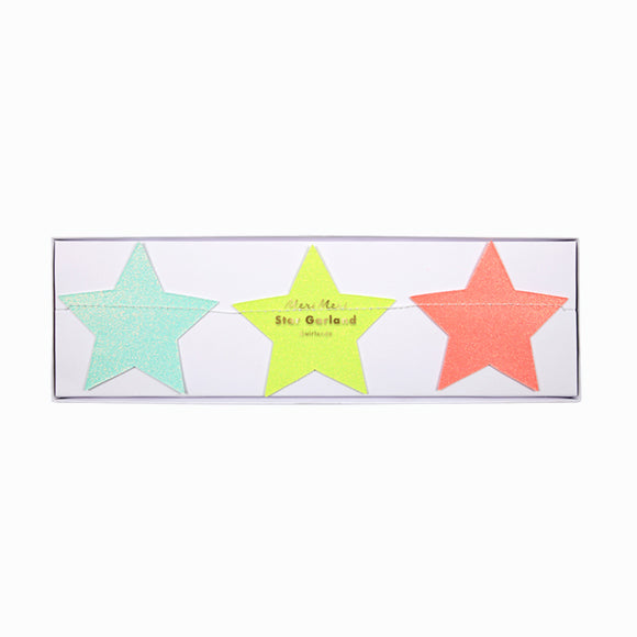 Girlande - Multicolor Star Garland