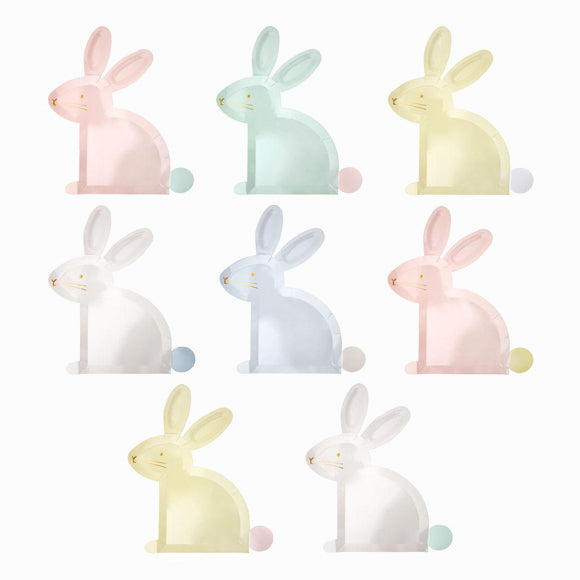 Pappteller - Pastel Bunny Plates