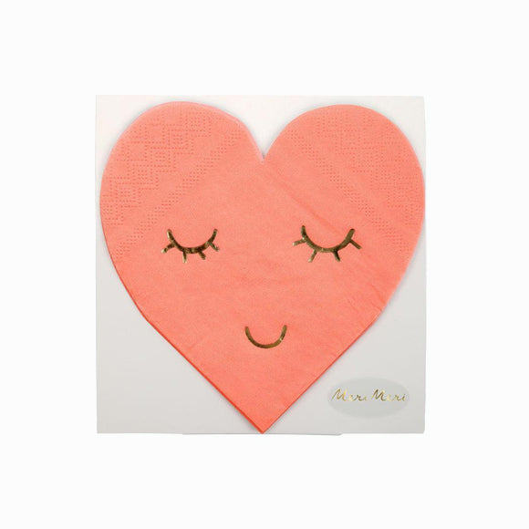 Servietten - Smiley Heart small