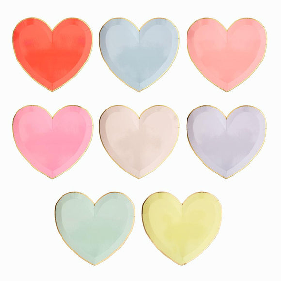 Pappteller - Party Palette Heart Plates large