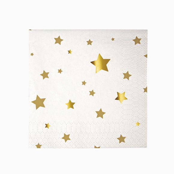 Servietten - Gold Star Confetti Napkins small