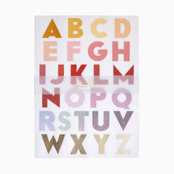 Aufkleber - Large Ombre Alphabet Sticker Sheets