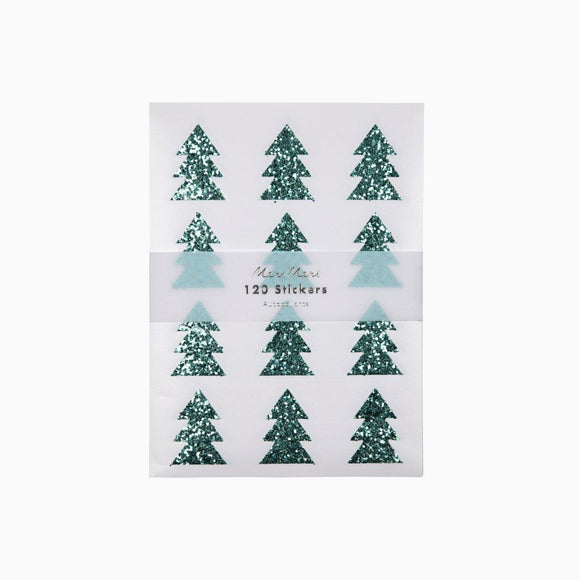 Aufkleber - Glitter Green Tree Sticker Sheets