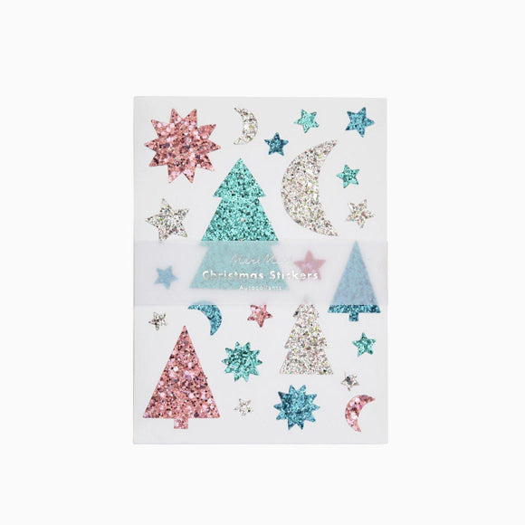 Aufkleber - Glitter Festive Icons Sticker Sheets