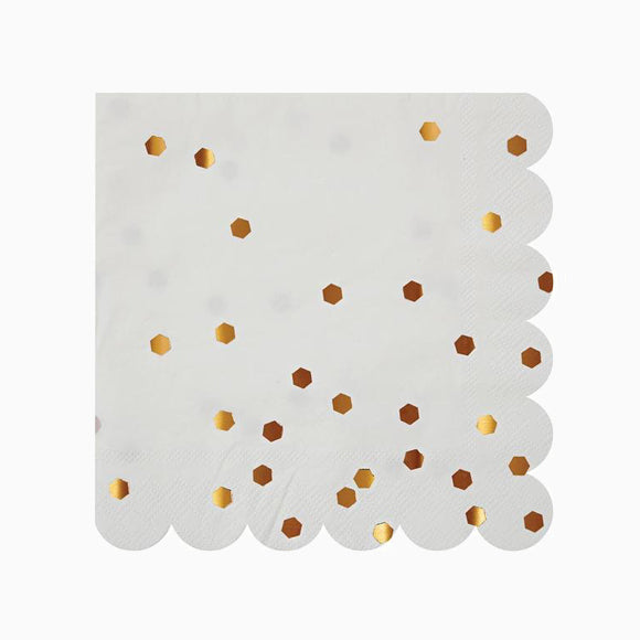 Servietten - Rose Gold Confetti Napkins large