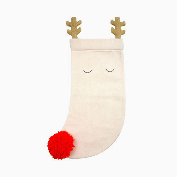 Nikolausstrumpf - Knitted Reindeer Stocking