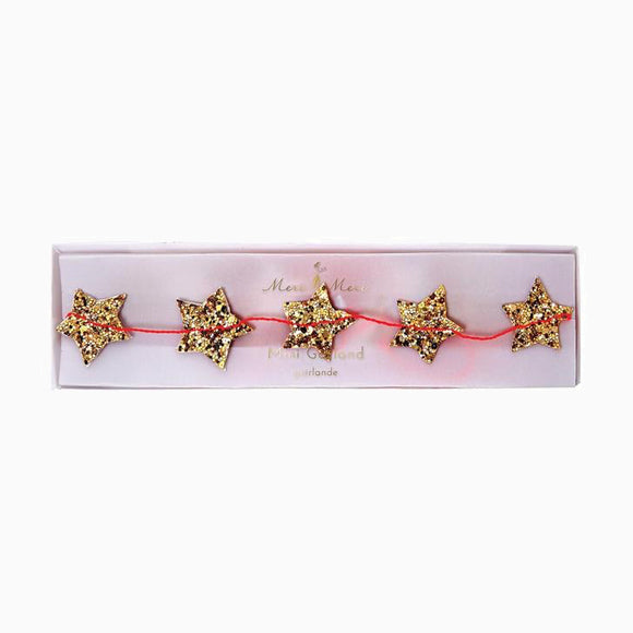 Girlande - Gold Star Mini Garland