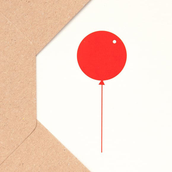 Karte - Balloon Stone/Red