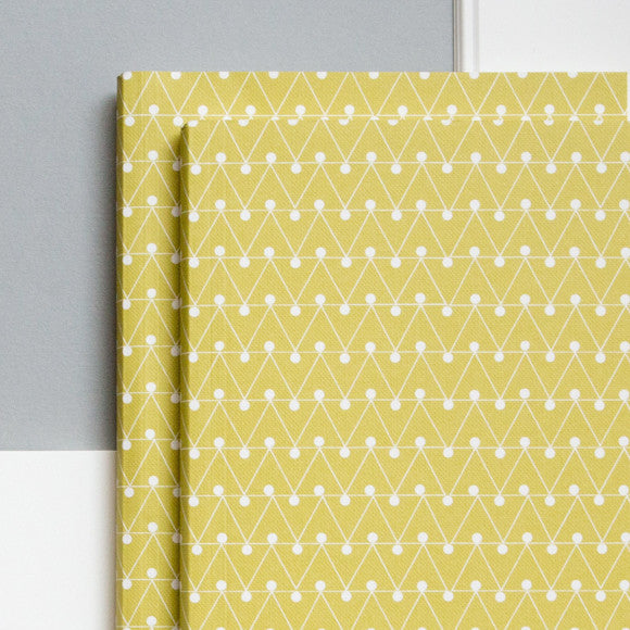 Notizbuch A5 - Dash Print / yellow green